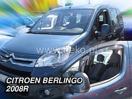 Дефлекторы окон (ветровики)   PEUGEOT PARTNER - 2008r.→ (Heko)