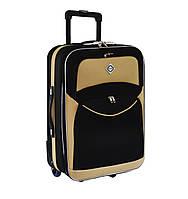 Дорожный чемодан на колесах Bonro Best Черно-кремовый Большой