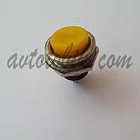 Кнопка без фиксации пусковая №321 желтая, фото 1
