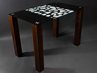 Стол стеклянный обеденный Далматинец