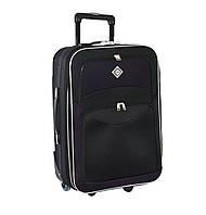 Дорожный чемодан на колесах Bonro Best Черно-темно-фиолетовый Большой