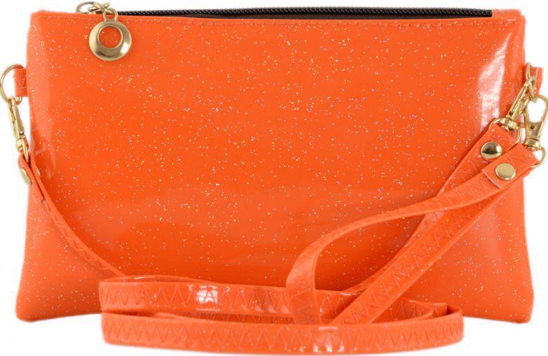 2f42bd776902 Мини-клатч из лакированного кожзама TRAUM 7302-62, оранжевый - SUPERSUMKA  интернет магазин