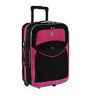 Дорожный чемодан на колесах Bonro Best Черно-розовый Большой