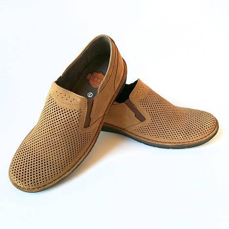Летняя мужская обувь от производителя detta Харьков : замшевые мокасины коричневого цвета, ортопедические