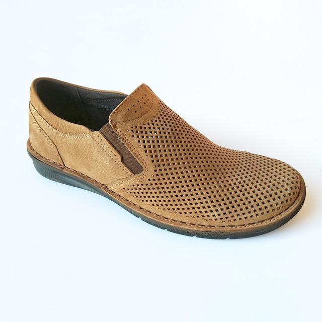 Летняя, кожаная, комфортная, мужская обувь от украинского производителя фабрики detta Харьков замшевые мокасины, коричневого цвета, под ложку, ортопедические