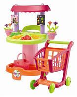 Супермаркет, кассы, тележки, наборы продуктов