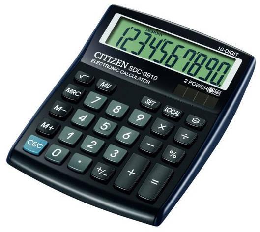 Калькулятор Citizen SDC-3910 бухгалтерский, фото 2