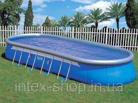 Каркасно-надувной овальный бассейн Oval Fast-Set Bestway 56164, 853х366х122 см, фото 2