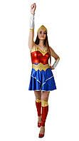Чудо женщина женский карнавальный костюм Wonder Woman \ размер универсальный \ BL - ВЖ292