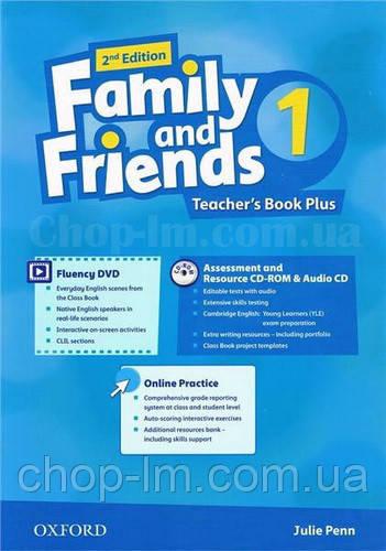 Family and Friends 2nd (second) Edition 1, Teacher's Book Plus Pack (книга для учителя 2-е издание с диском)