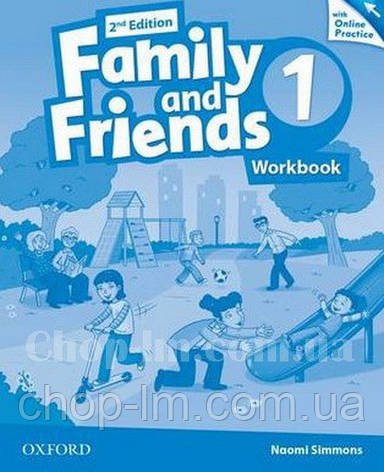 Family and Friends 2nd (second) Edition 1 Workbook with Online Practice / Рабочая тетрадь с практикой, фото 2