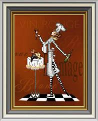 Схема для вышивки бисером Официантка - 3 (15 х 20 см) СД-237 Княгиня Ольга