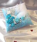Салатовая подушечка для колец, фото 4