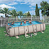 Каркасный ( сборно-разборный) бассейн Bestway Metal Frame Pool 56209, 305х203х122 см + насос-фильтр
