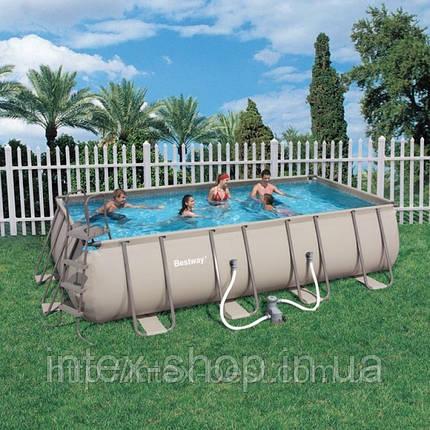 Каркасный ( сборно-разборный) бассейн Bestway Metal Frame Pool 56209, 305х203х122 см + насос-фильтр, фото 2