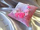Салатовая подушечка для колец, фото 8