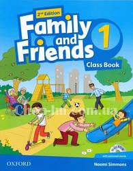 Family and Friends 2nd (second) Edition 1 Class Book + MultiROM (учебник/підручник 2-е издание с диском)