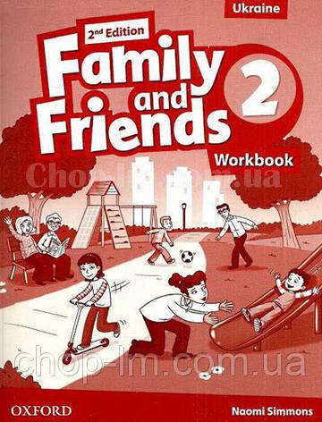 Family and Friends 2nd (second) Edition 2 Workbook for Ukraine (рабочая тетрадь 2-е/второе издание), фото 2