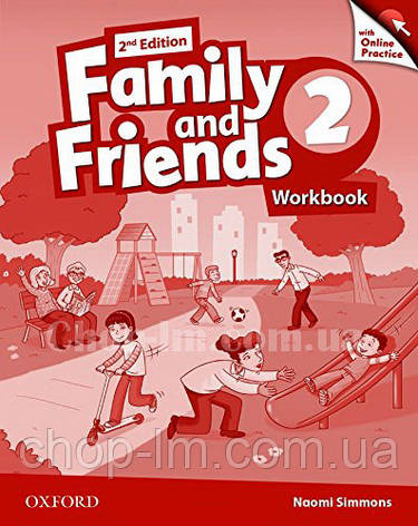 Family and Friends 2nd (second) Edition 2 Workbook with Online Practice / Рабочая тетрадь с практикой, фото 2