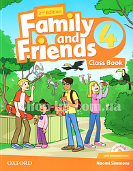 Family and Friends 2nd (second) Edition 4 Class Book and MultiROM Pack, (учебник/підручник 2-е изд. с диском