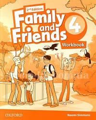 Family and Friends 2nd (second) Edition 4 Workbook (рабочая тетрадь/зошит, 2-е/второе издание)