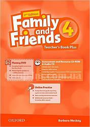 Family and Friends 2nd (second) Edition 4 Teacher's Book Plus(книга для учителя, 2-е/второе издание)