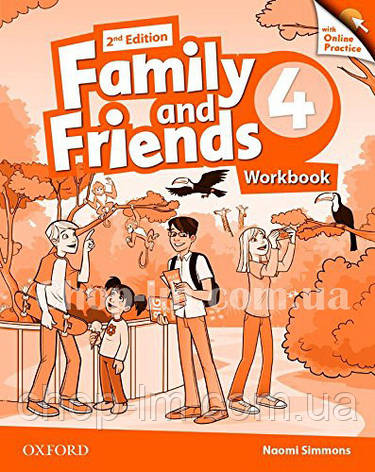 Family and Friends 2nd (second) Edition 4 Workbook with Online Practice / Рабочая тетрадь с практикой, фото 2