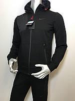 Мужской спортивный костюм Nike из трикотажа черный (копия) VO