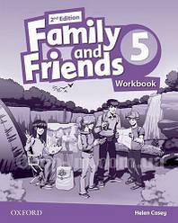 Family and Friends 2nd (second) Edition 5 Workbook (рабочая тетрадь/зошит 2-е/второе издание)