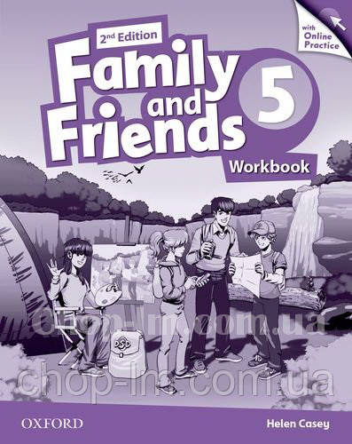 Family and Friends 2nd (second) Edition 5 Workbook with Online Practice / Рабочая тетрадь с практикой