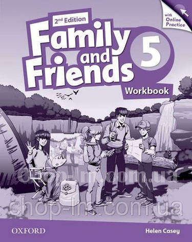 Family and Friends 2nd (second) Edition 5 Workbook with Online Practice / Рабочая тетрадь с практикой, фото 2