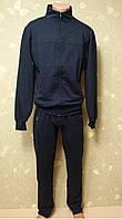 """Спортивный костюм """"Dario Biachi"""" мужской трикотажный темно-синий коричневая полоска"""