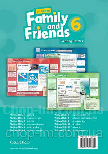Family and Friends 2nd Edition 6 Writing Posters / Плакаты для учителя