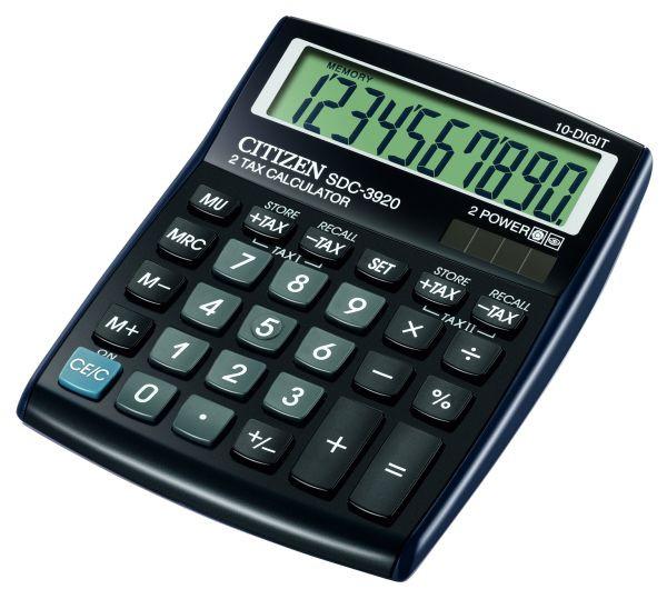 Калькулятор Citizen SDC-3920 бухгалтерский