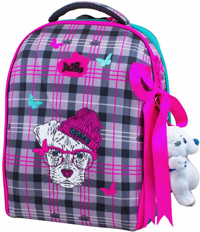 5808dd52b4f9 Ранец школьный DeLune 7-143 + мешок + мишка рюкзак детский ортопедический  для девочек фабричный