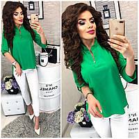Блузка женская, модель 749, ярко-зеленый(трава), фото 1