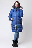 Зимняя куртка для девочки ZKD-3 электрик