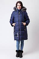 Зимняя куртка для девочки ZKD-3 синяя