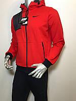 Мужской спортивный костюм Nike из трикотажа красный (копия) VO