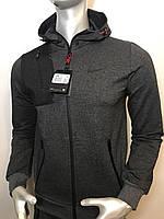 Мужской спортивный костюм Nike из трикотажа темно-серый (копия) VO