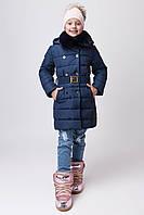Зимняя куртка для девочки ZKD-2 синяя