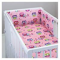 """Комплект в кроватку (6 предметов) """"Цветунья""""(розовый) ТМ """"Хатка"""""""