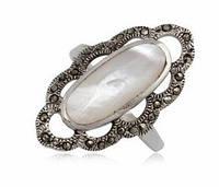Перстень серебряный Маркиза  с натуральным Перламутром