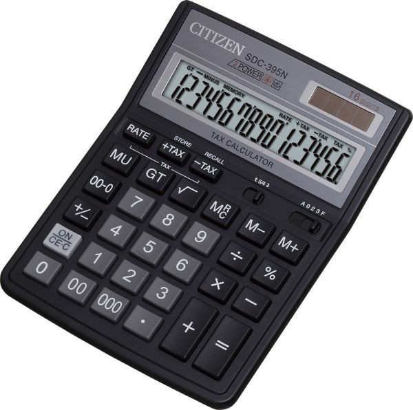 Калькулятор Citizen SDC-395N бухгалтерский 16р.