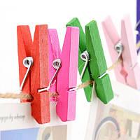 Декоративные мини прищепки разных цветов, Craft, клип, декор (25 шт.), длина: 3,5 см, фото 1