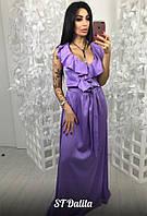 Женское длинное нарядное платье, в расцветках (МБ-11-0418)