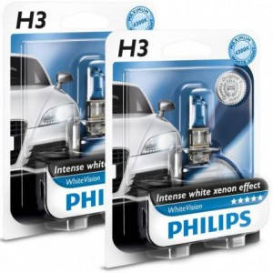 Philips White Vision 4300K +60% H3, фото 2
