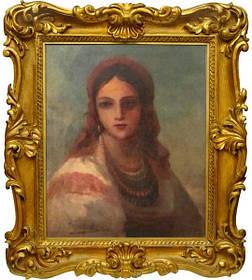 Картина Портрет украинки  Винтурин М.И. 1881 год