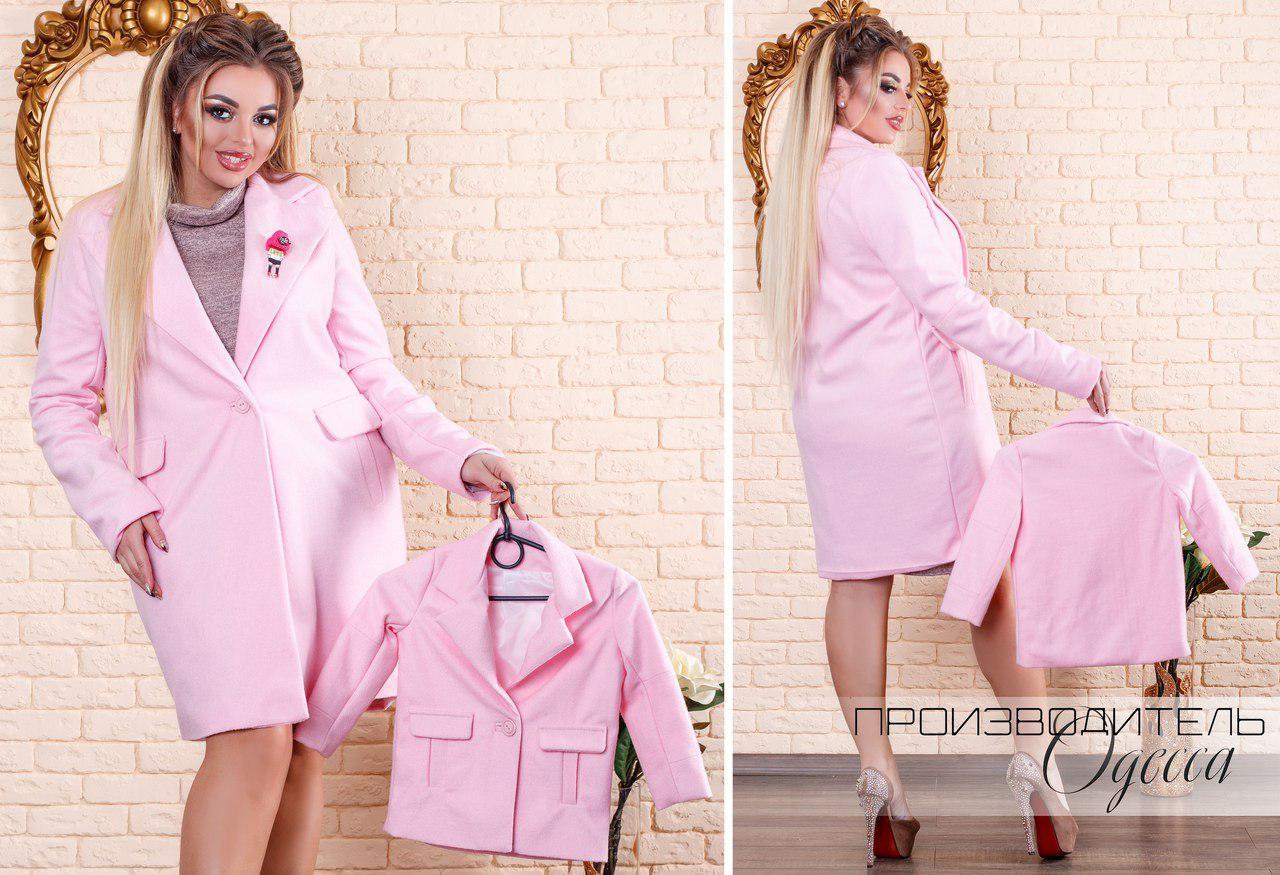 Женское пальто Брошка