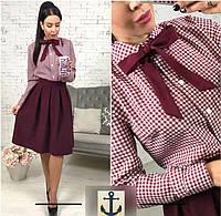 Рубашка женская бордовая модель 10511275